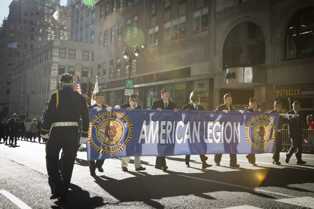 American Legion supporters