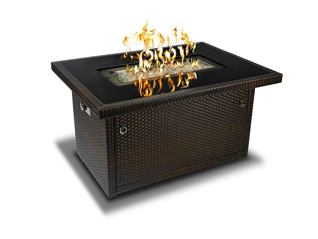 Gas-lit fire pit