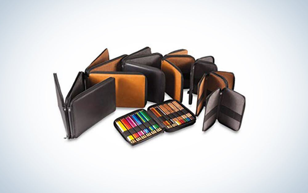 Global Art Leather Pencil Case
