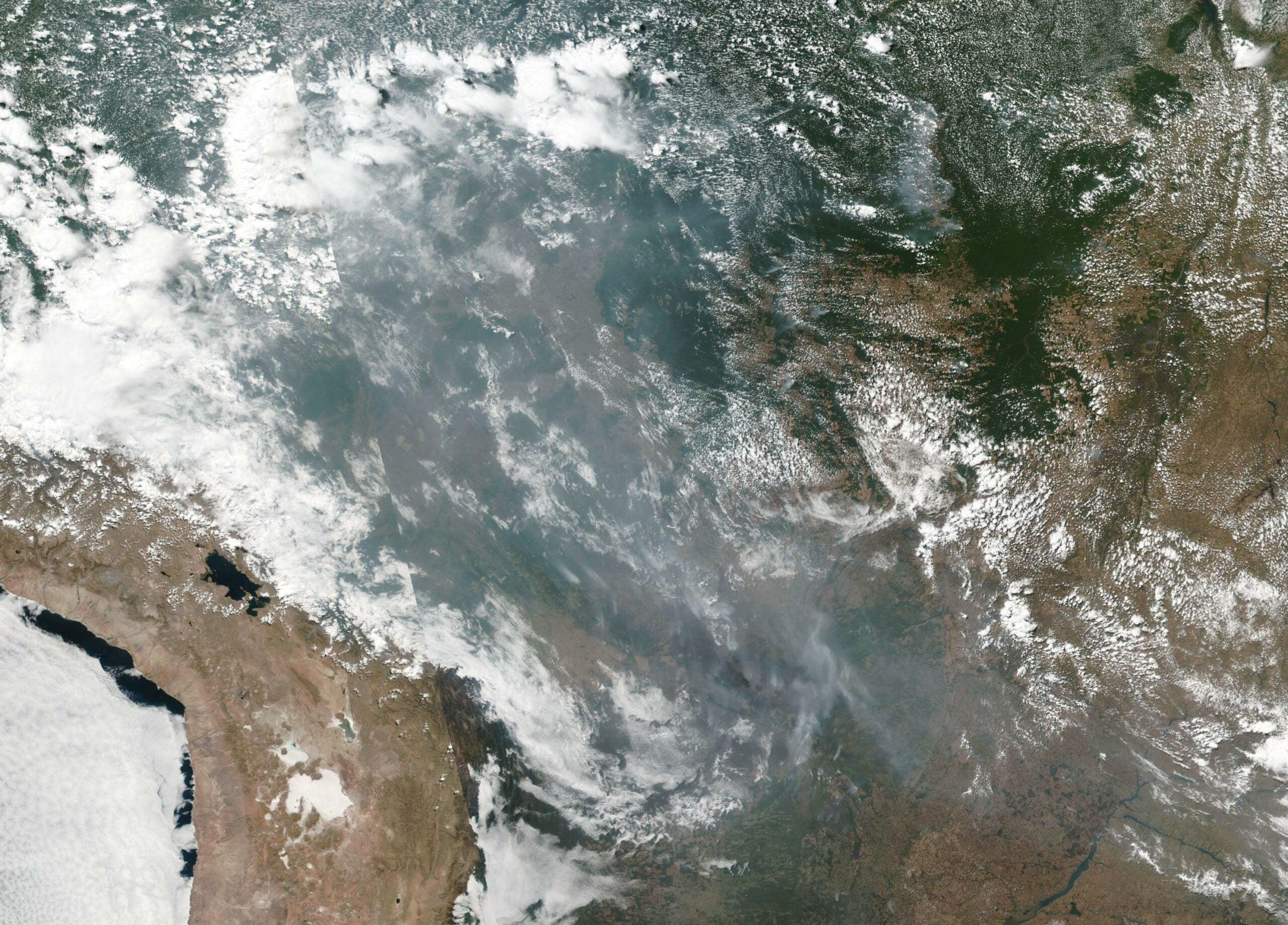 Burning Amazon Rainforest