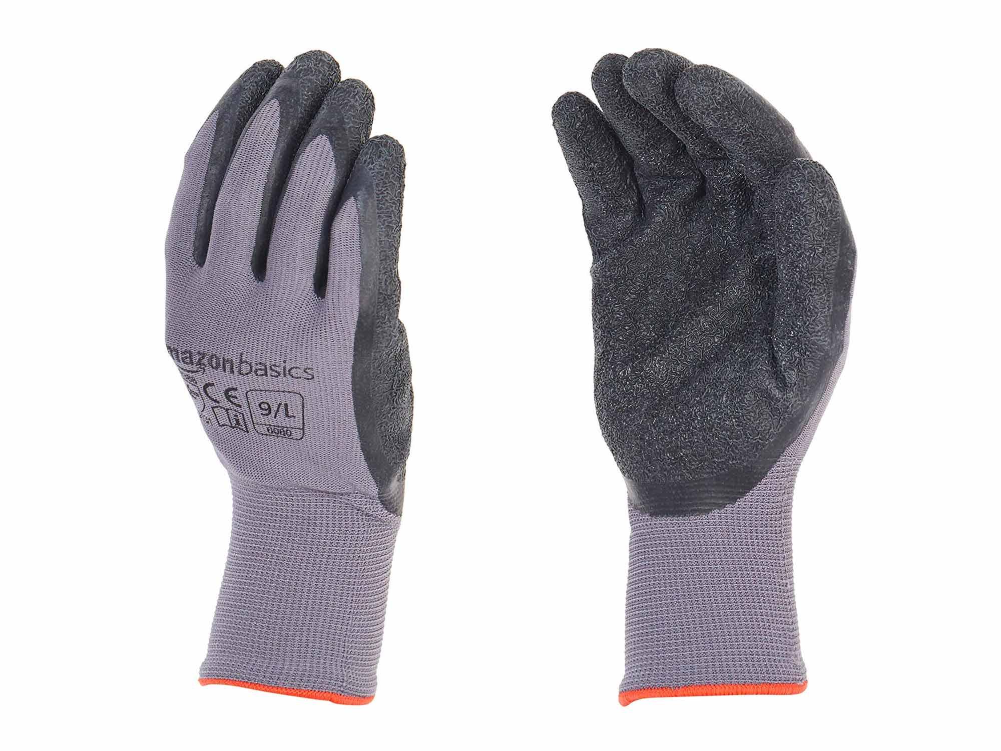 AmazonBasics Latex Coated Work Gloves