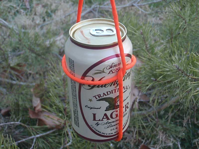 a barrel hitch knot with a yuengling beer