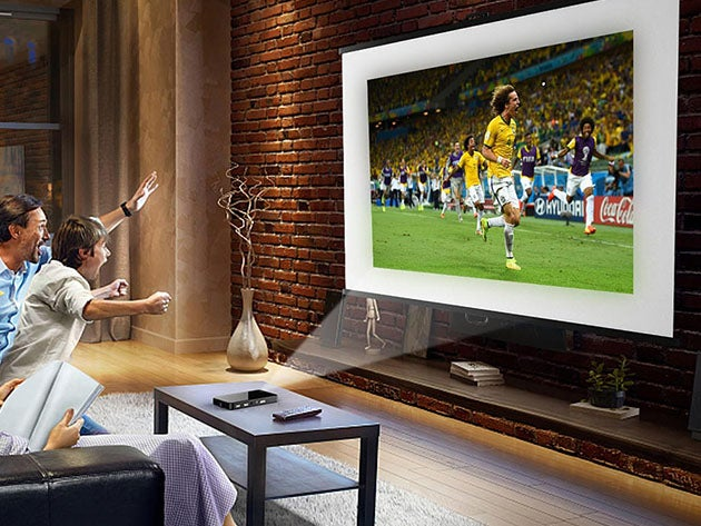 This iPhone-sized pocket projector turns any wall into a 200-inch HD display