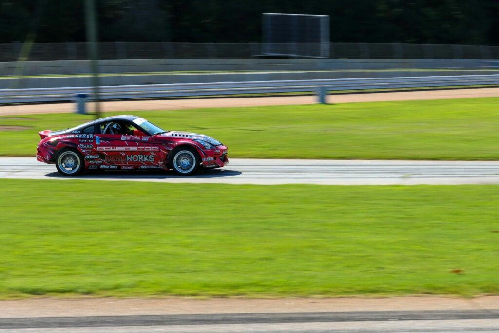 Racecar on track