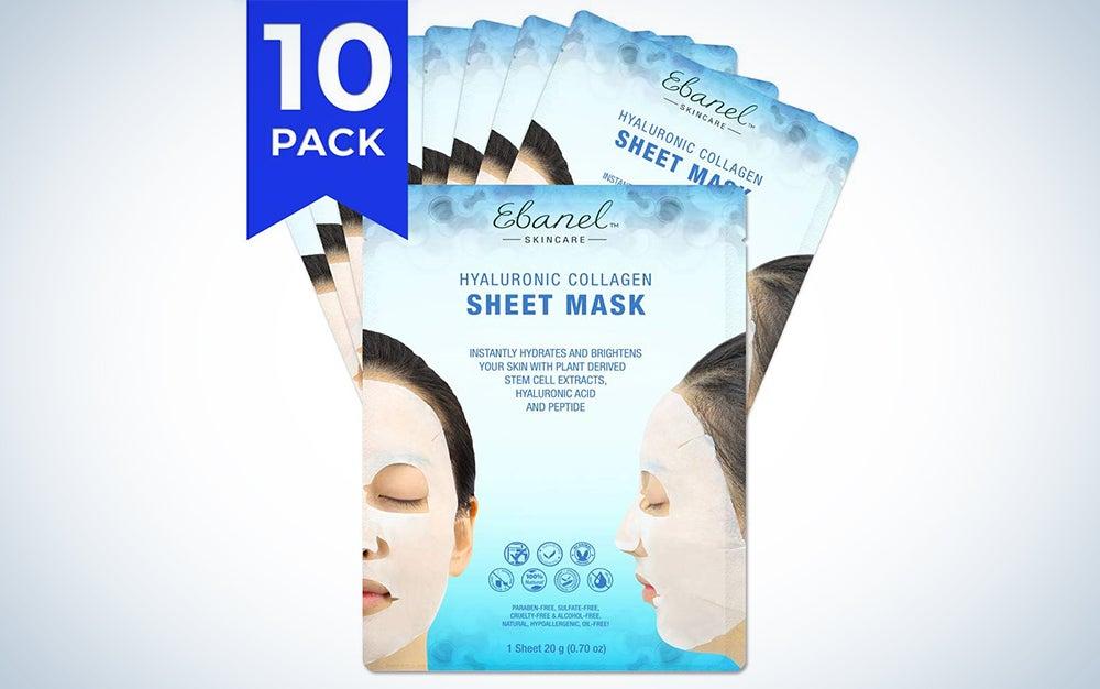 Ebanel Hyaluronic Collagen Facial Masks