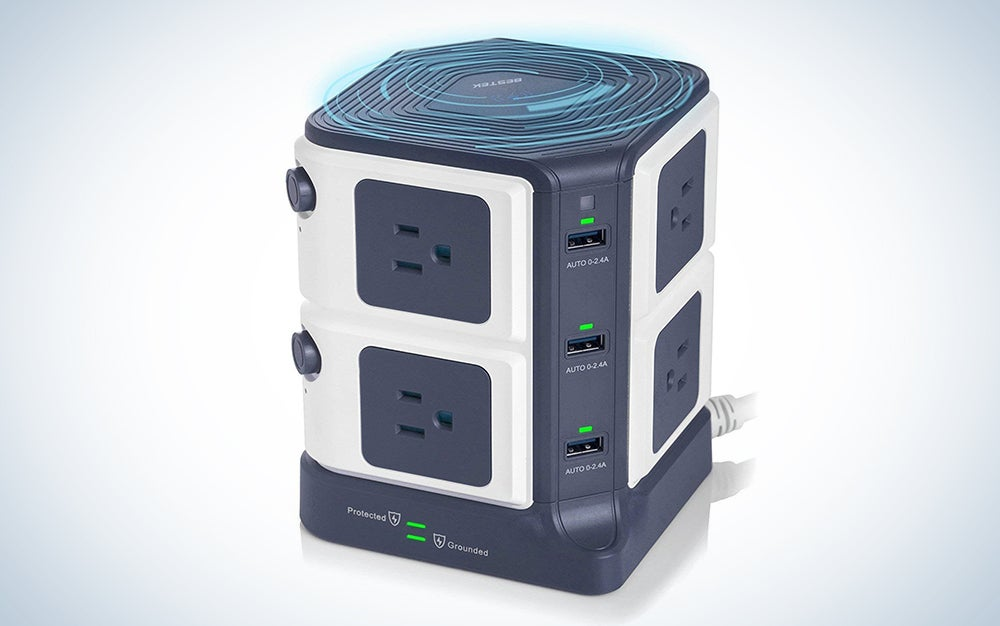 BESTEK Surge Protector, Wireless Charger, and USB Charging Dock Station