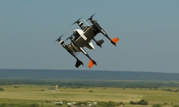 This big drone takes off like a helicopter, flies like a biplane, and can carry 70 pounds