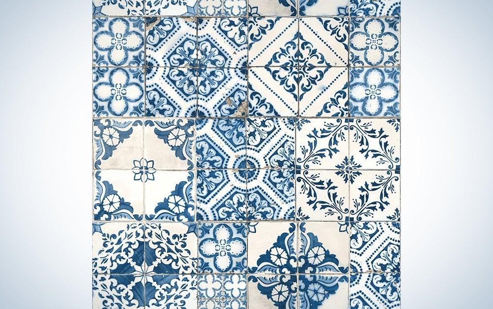 Roommates Mediterranean Tile Wallpaper