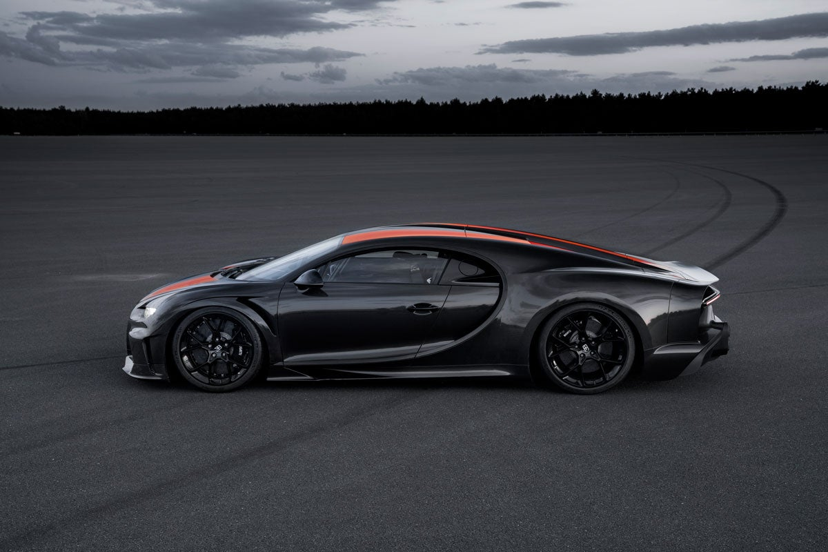 The Bugatti Chiron supercar broke the 300 mph barrier and set a new speed record