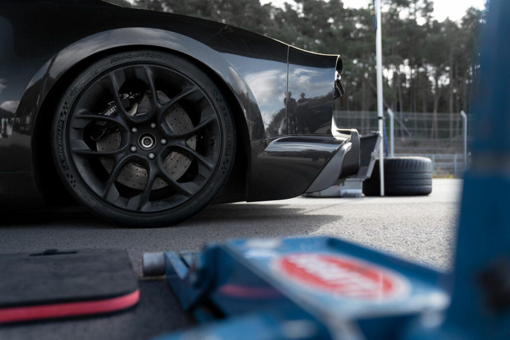 Chiron record-setting tires