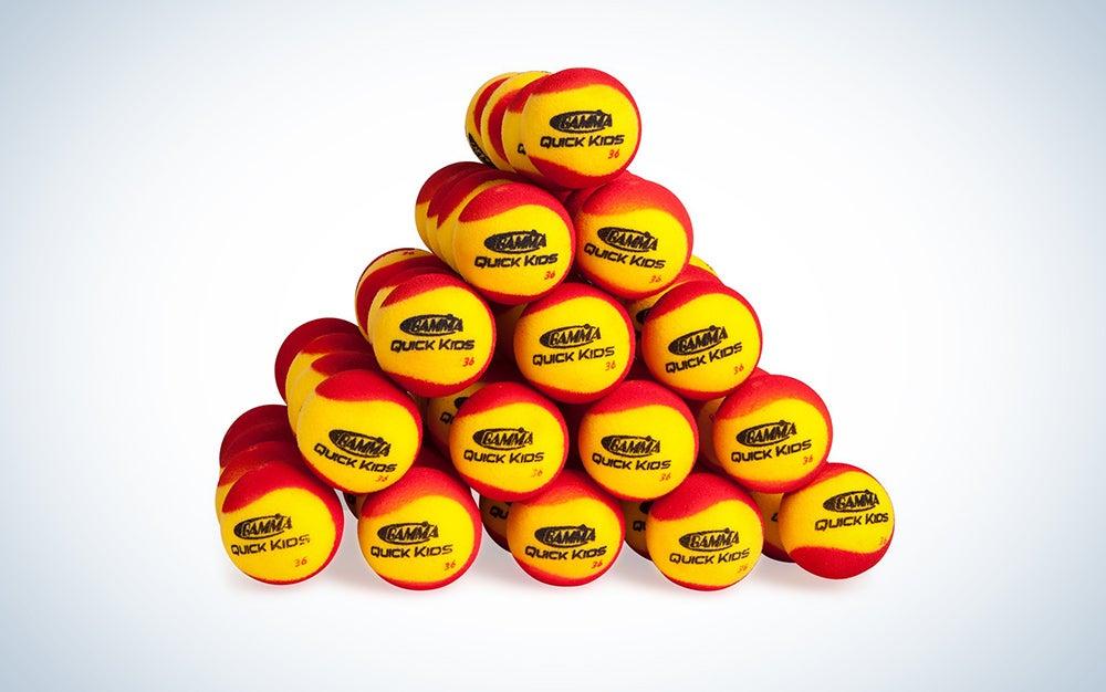 Gamma Sports Foam Tennis Balls for Children and Beginners
