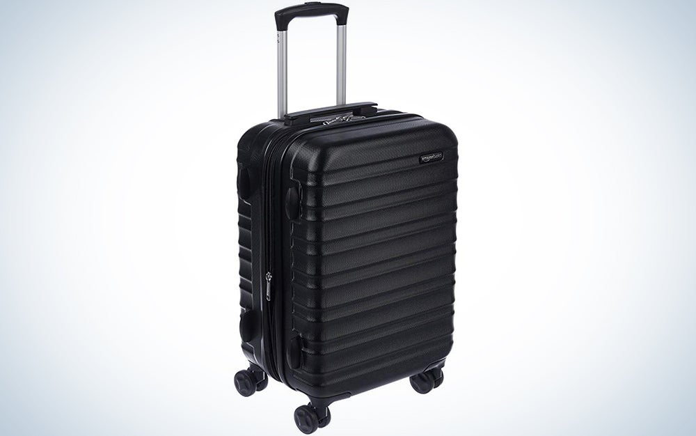 AmazonBasics Hardside Carry-On Spinner Suitcase Luggage