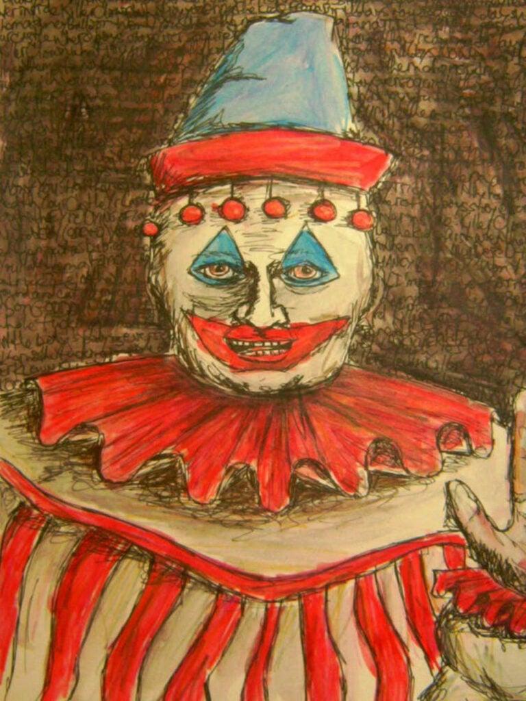A clown painting by John Wayne Gacy