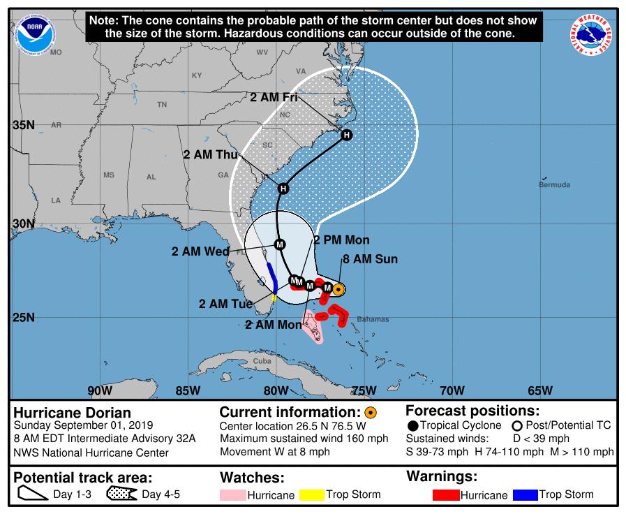 a hurricane forecast map