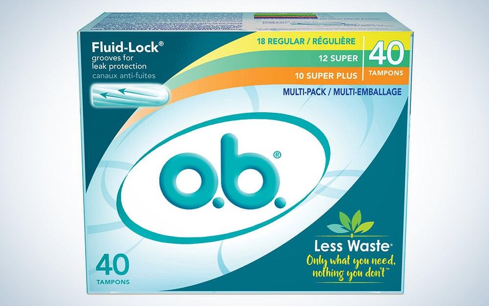 O.B. non-applicator tampons
