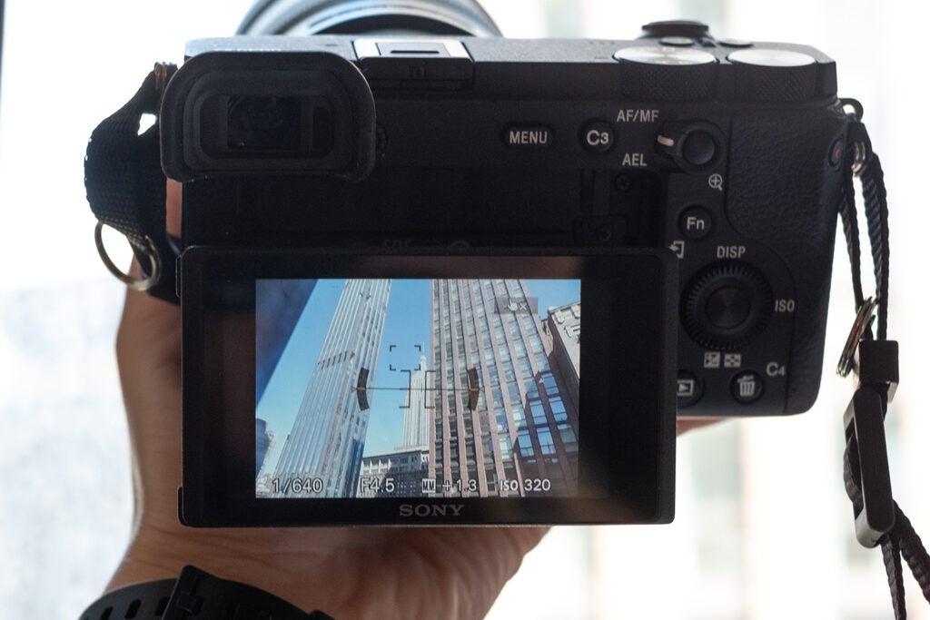 Sony a6600 camera screen