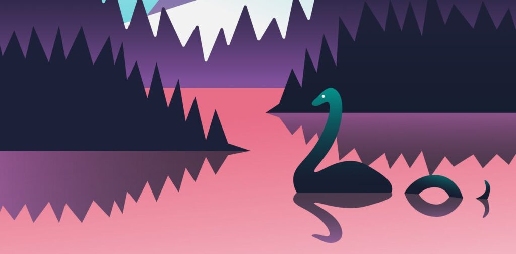 An illustration of Nessie