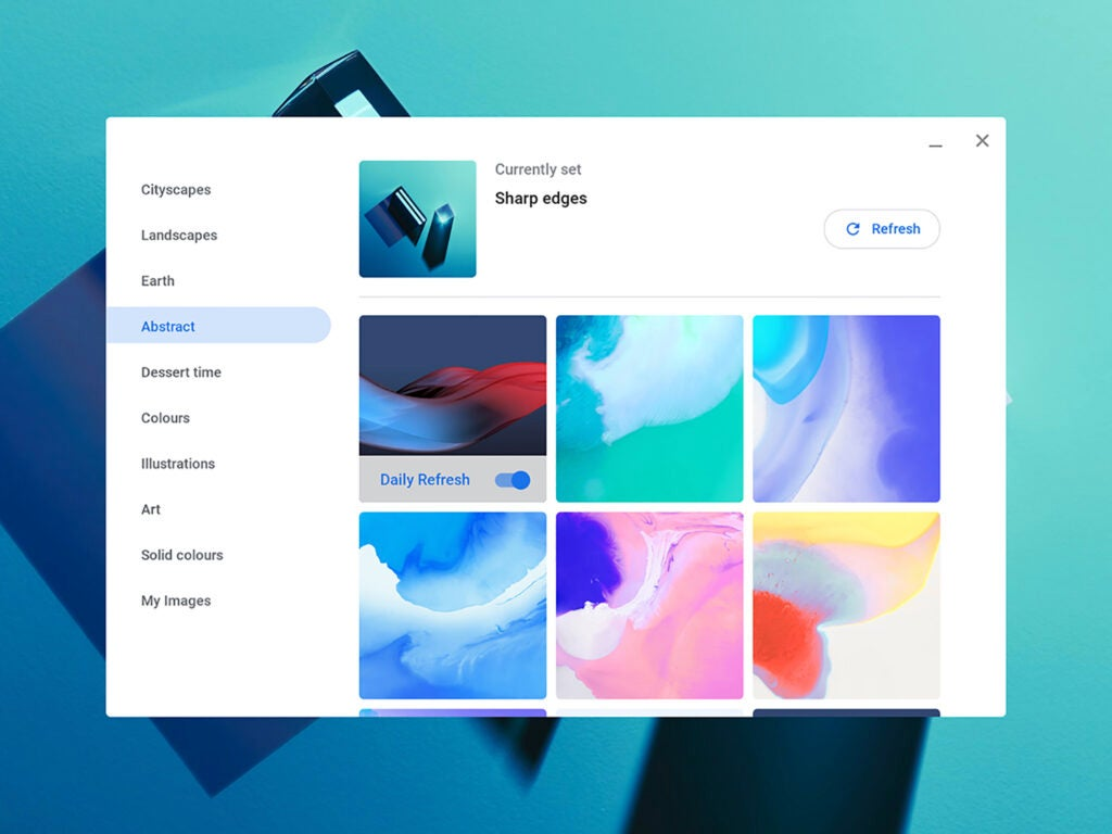 Chromebook settings screenshot
