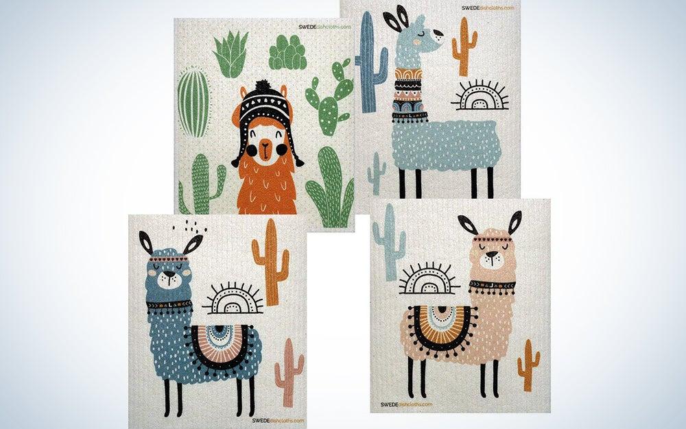Llama Swedish Dish Cloths