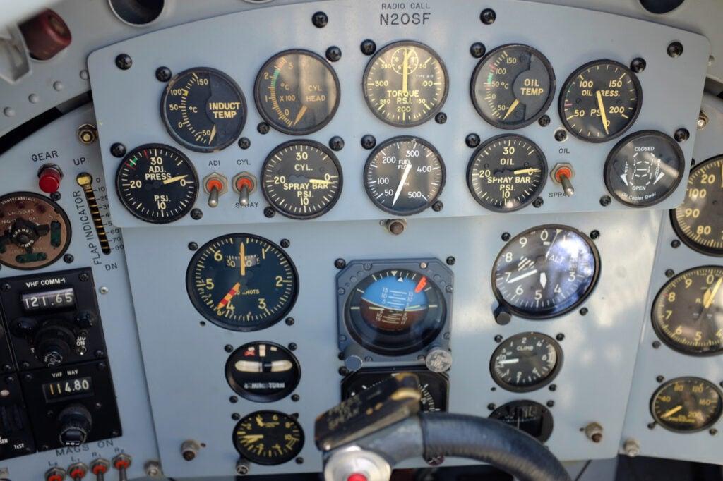 Hawker Sea Fury instrument panel