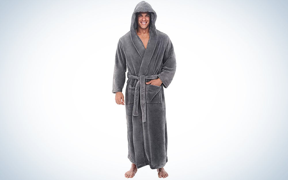 Alexander Del Rossa Plush Fleece Robe