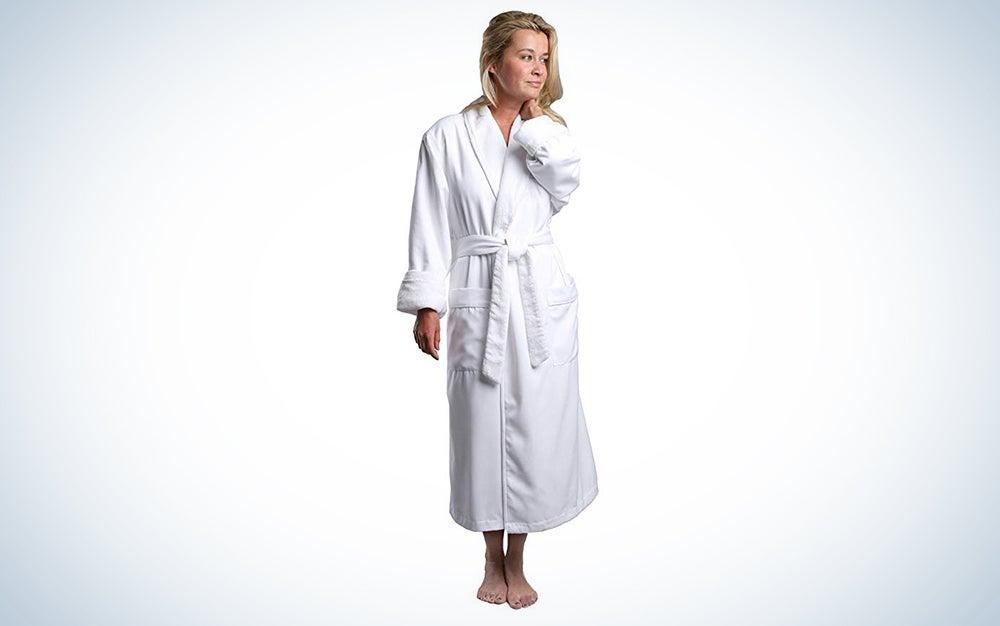 Monarch Plush Lined Microfiber Spa Robe