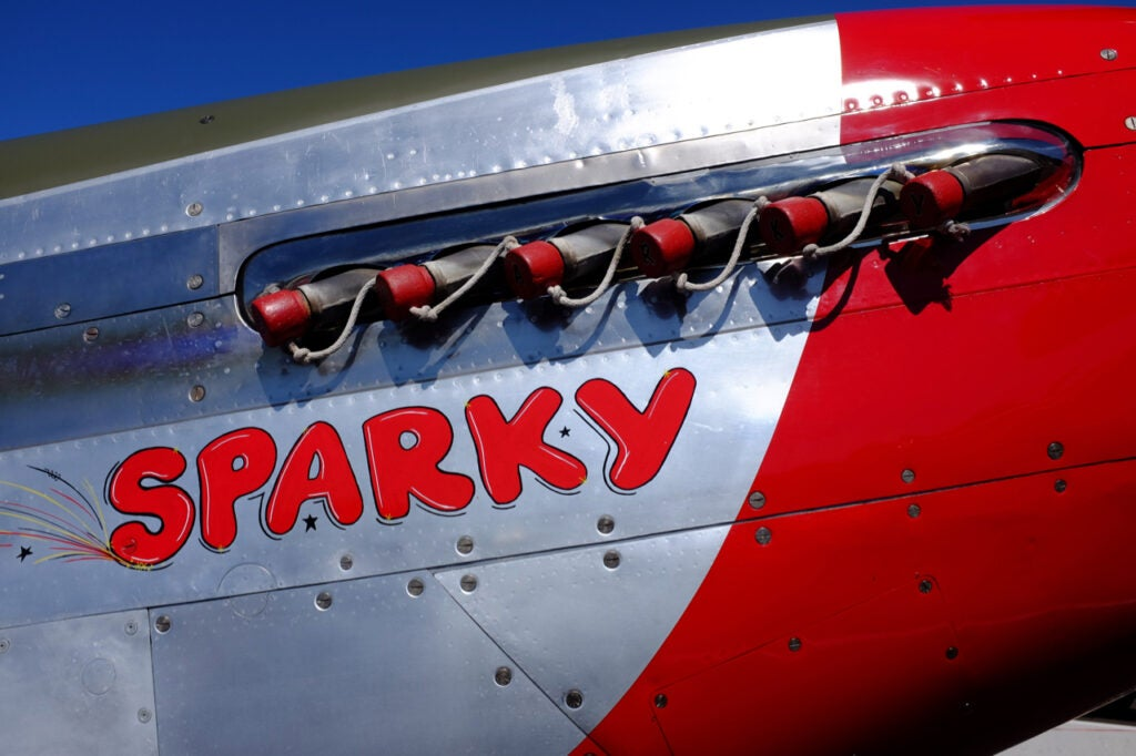 P-51D Mustang airplane exhaust pipes