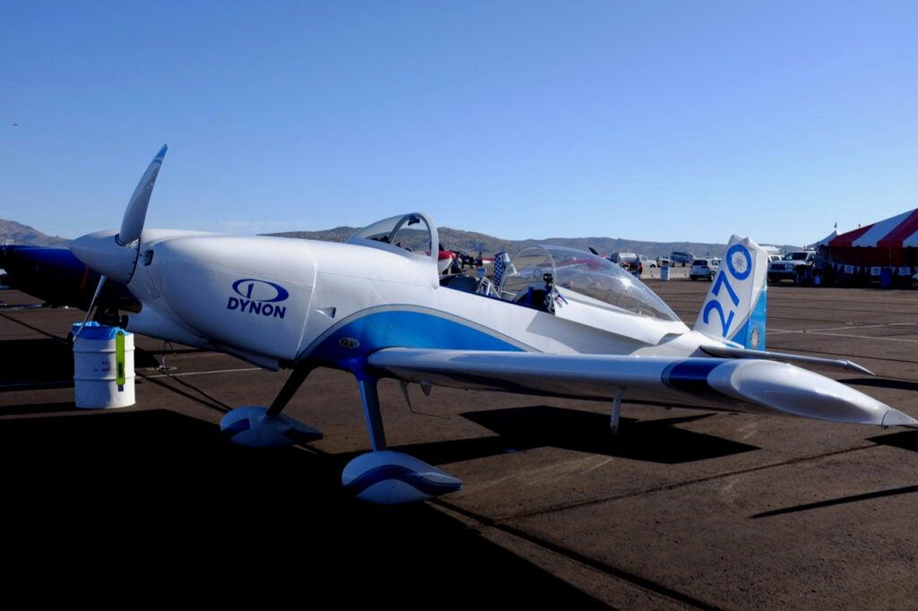 small racing airplane on the tarmac