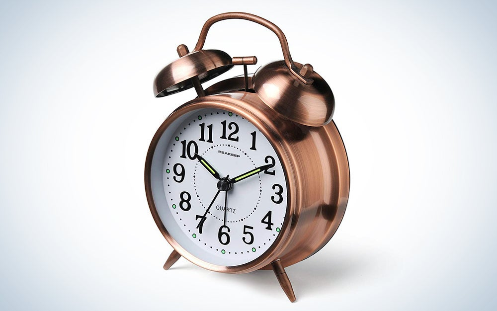 Peakeep Twin Bell Loud Alarm Clock
