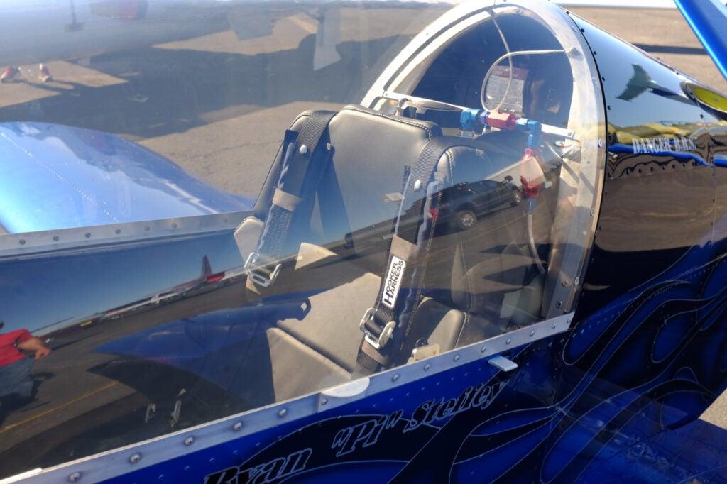 small jet cockpit glass