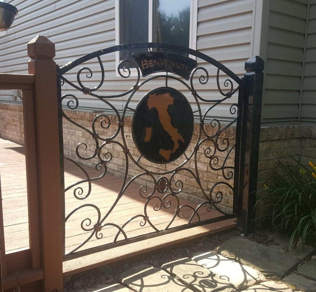 an iron gate made by Jennifer Horn