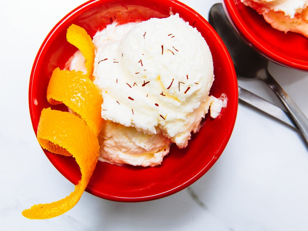 Saffron Orange Ice Cream