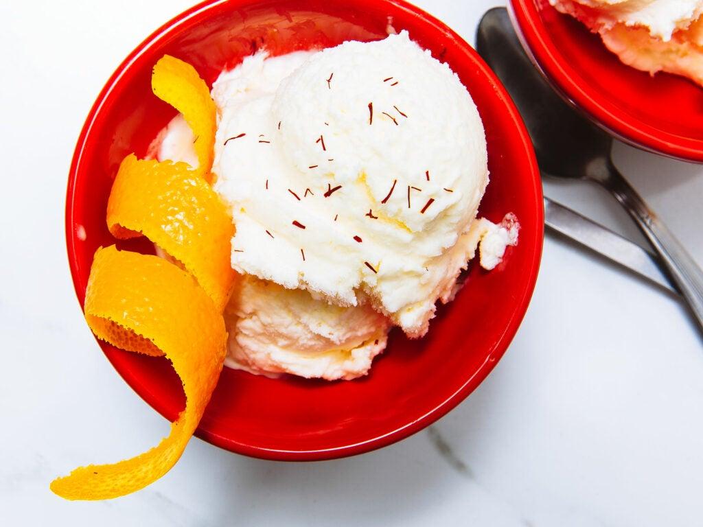 Saffron Orange Ice Cream