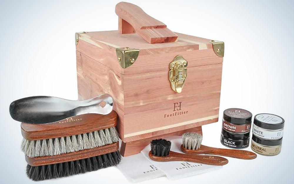 FootFitter Classic Shoe Shine Valet Box Set