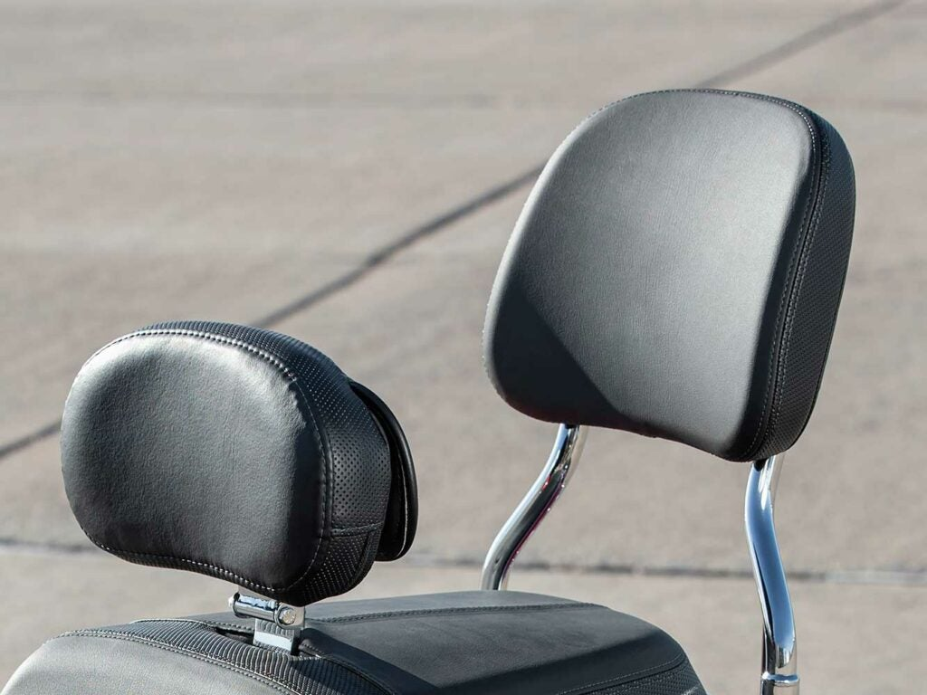 A redesigned sissy bar and passenger backrest pad highlight the 2020 Indian accessories rollout.