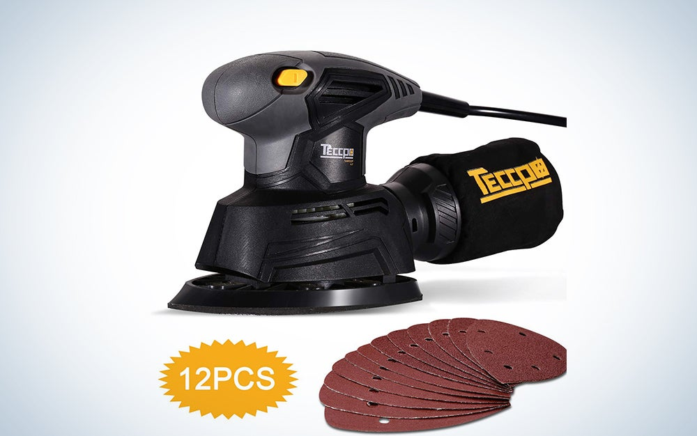 Teccpo Mouse Detail Sander with Recyclable Dust Bag