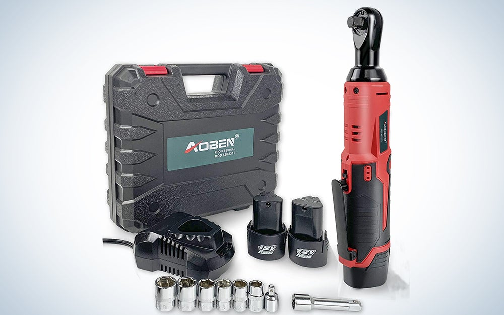Aoben Cordless Electric Ratchet Wrench Set