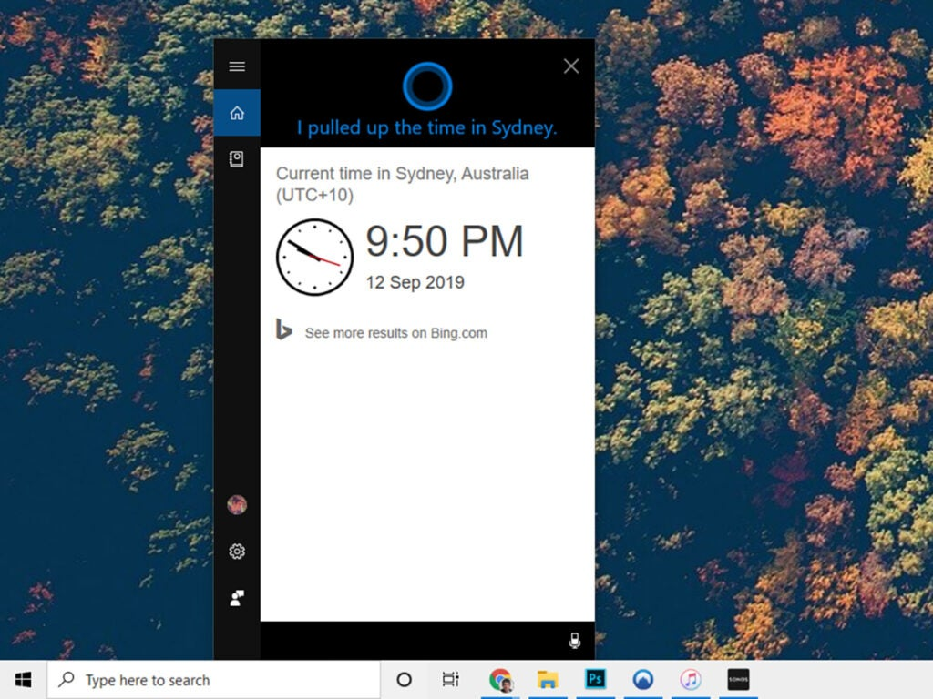 cortana assistant for windows