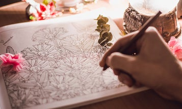 Coloring supplies for adults who need to unwind
