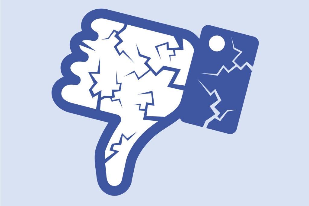 facebook broken like button
