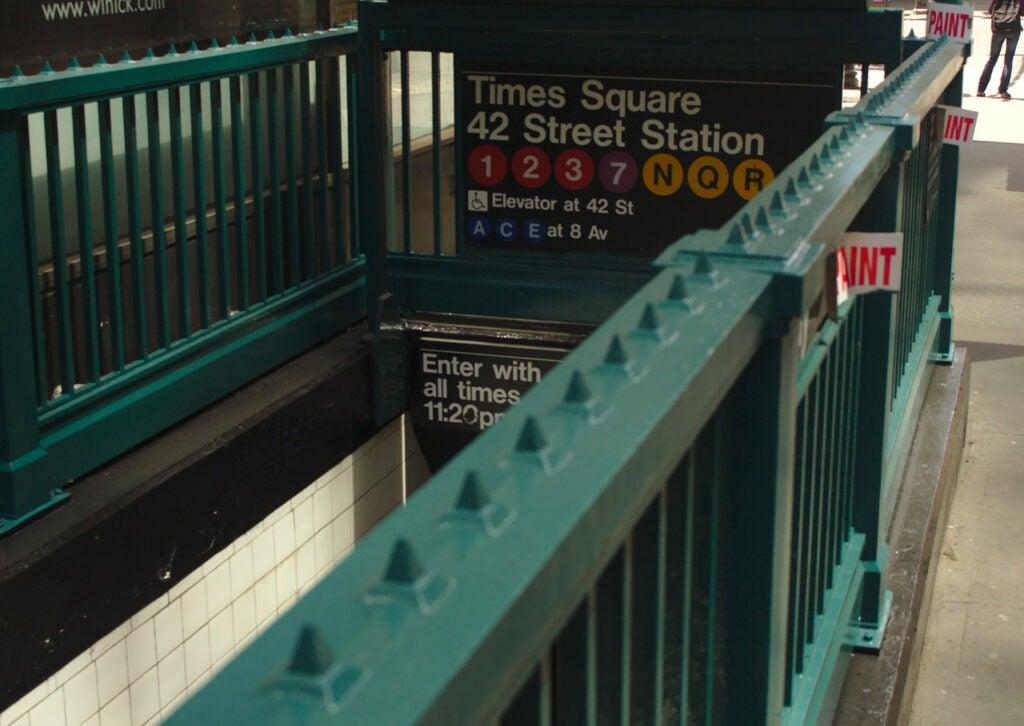 New York City subway entrance