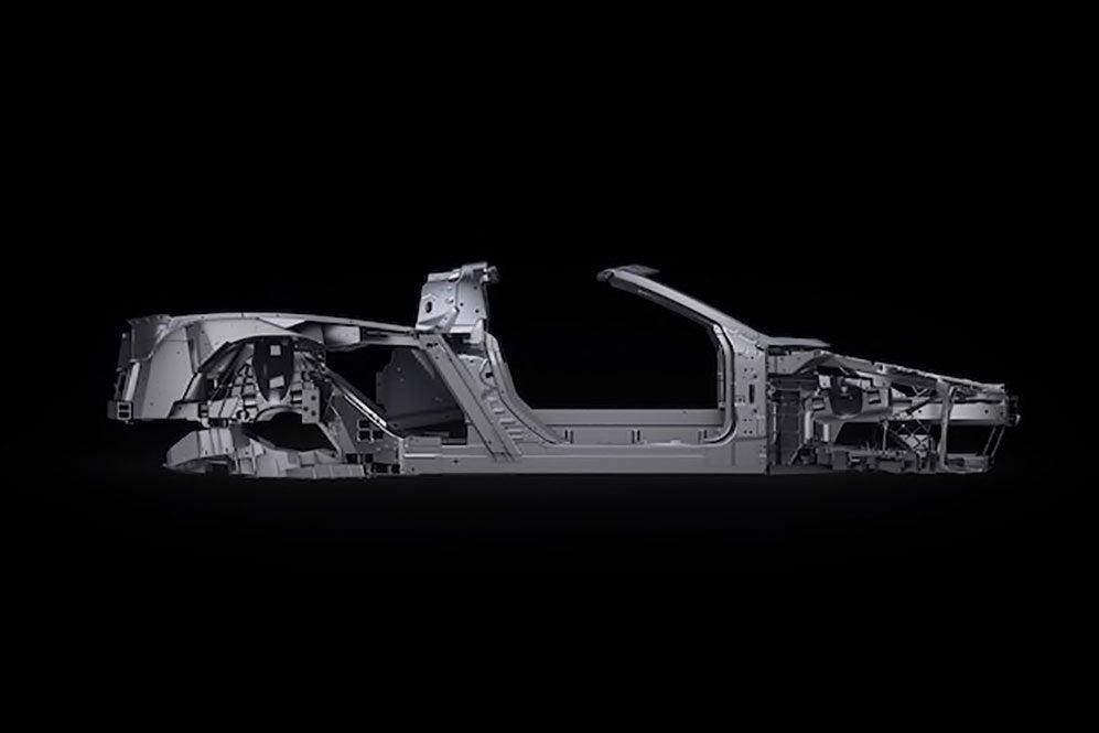 Corvette chassis black background