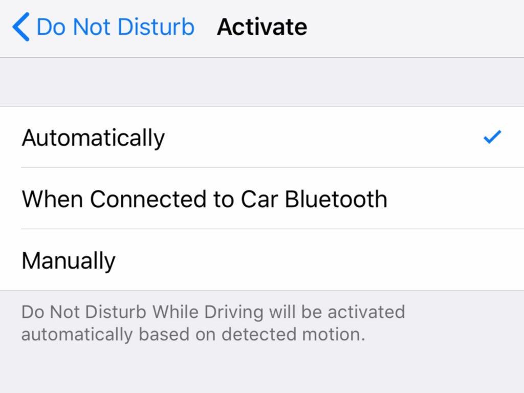 screenshot of apple maps showing the do not disturb feature