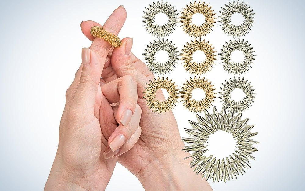 Spiky Sensory Finger Rings