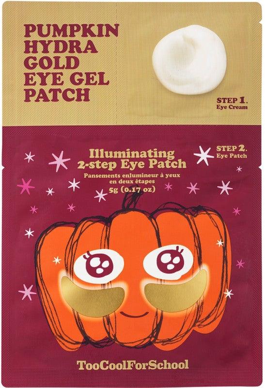 Too Cool for School pumpkin hydra eye gel patch