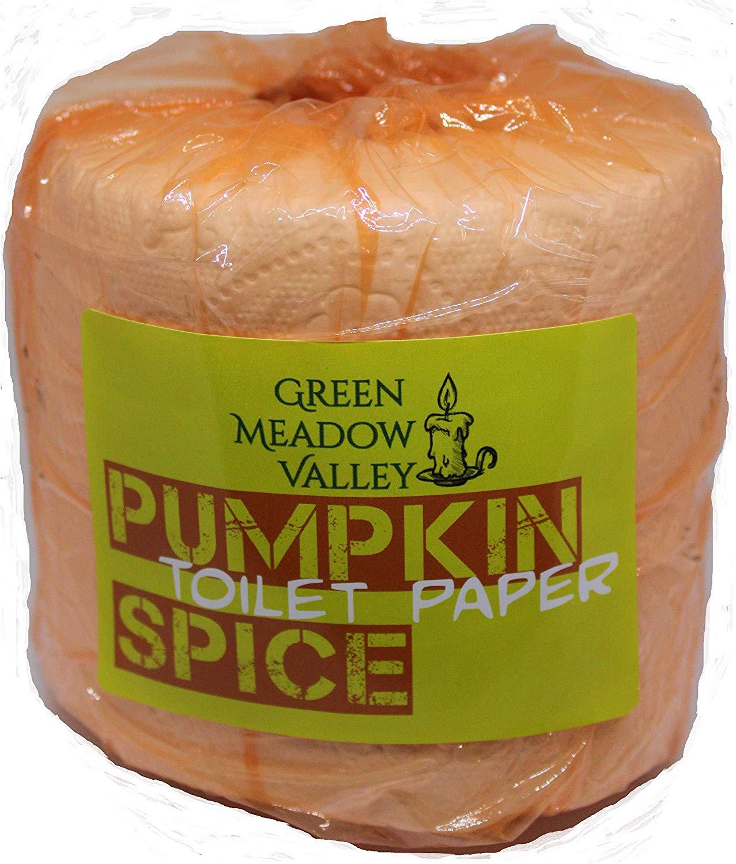 Green Meadow Valley pumpkin spice toilet paper