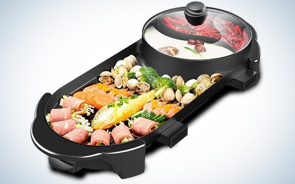 Seaan Electric Grill Indoor Hot Pot