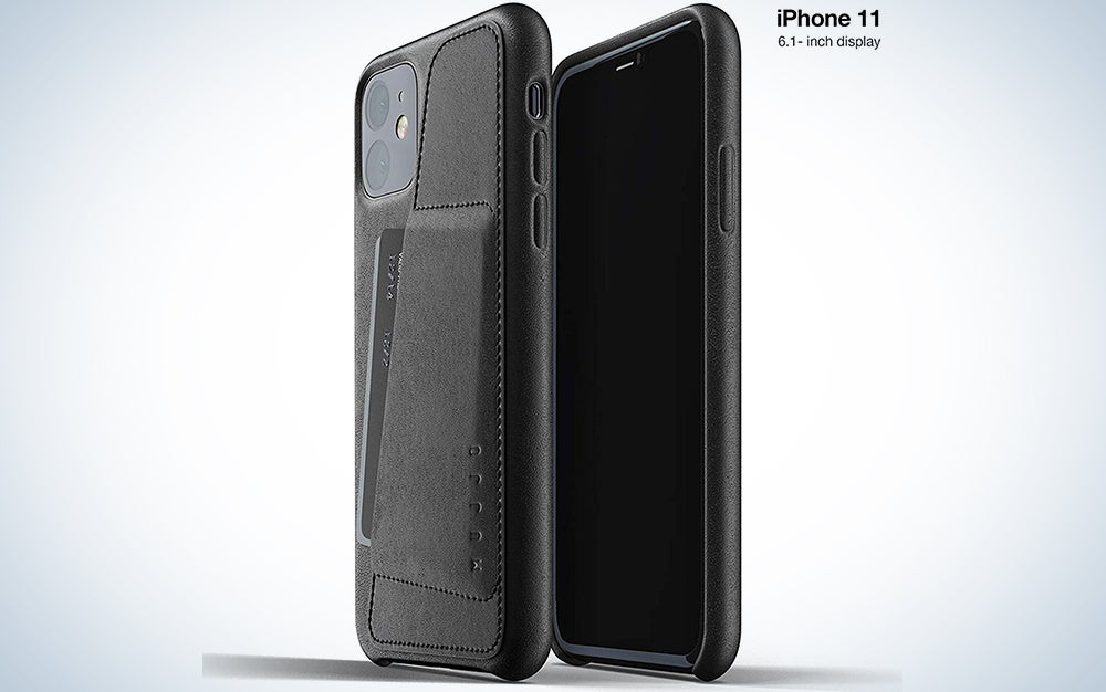 Mujjo Full Leather Wallet Case for Apple iPhone 11
