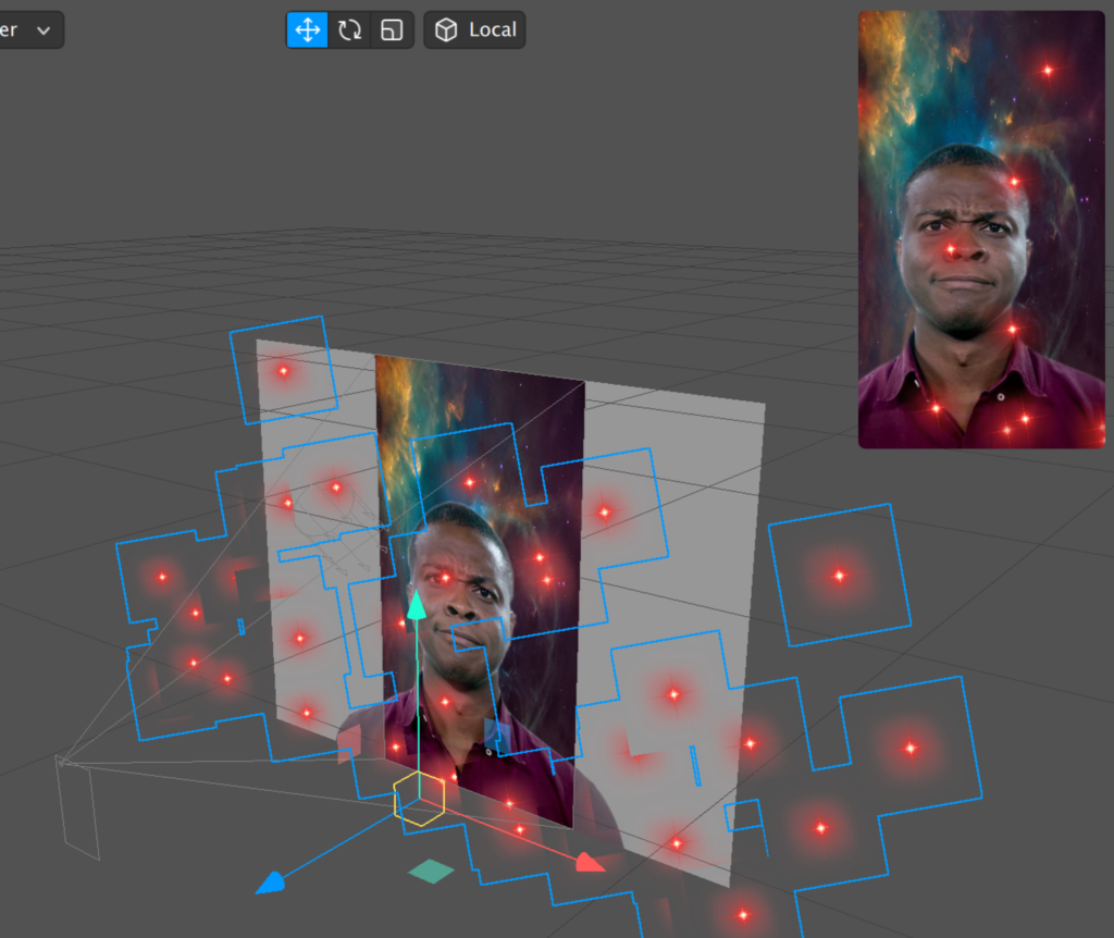 screenshot of working emitter in spark ar