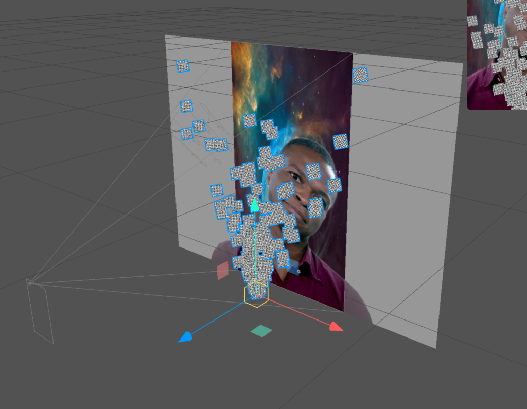 screenshot of emitter in spark ar